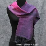 Hand woven purple and magenta scarf