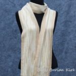 Hand woven Scarf in Neutral colors