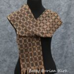 Handwoven 8-shatf, twill Blocks in brown and black