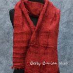 woven mahogany rayon chenille scarf
