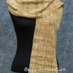 Woven beige rayon chenille scarf