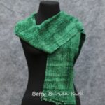 woven green rayon chenille scarf