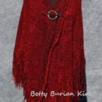 Red Woven Triangle Shawl