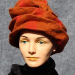 hand made felt Slouch Hat