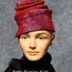 Hand made wool felt hat with silk