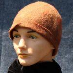 hand made wool felt, brown cloche